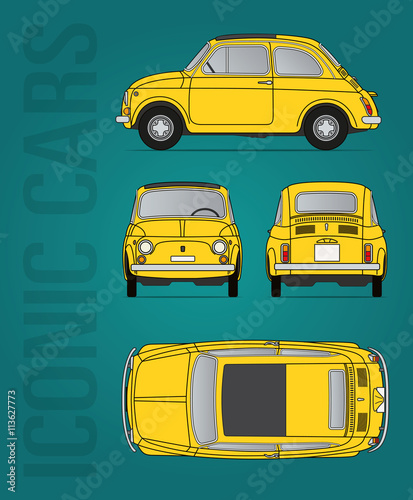 Retro Italian car Wallpaper Mural