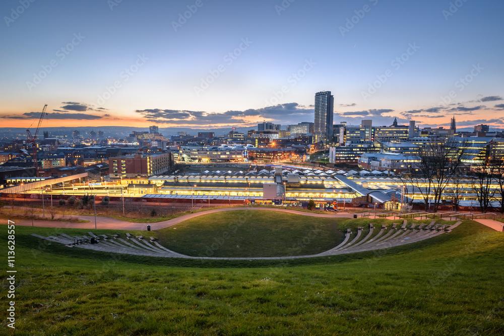 Fototapety, obrazy: Skyline Sheffield south Yorkshire England UK