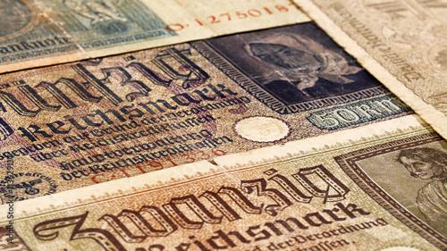 Photo  Third reich nazi banknotes 1942 WW2 in occupied Ukraine