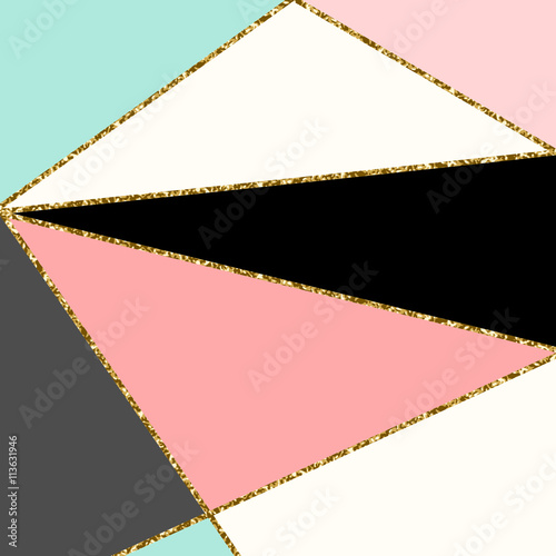 Foto auf AluDibond Geometrisch Abstract Geometric Composition