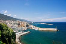 Le Port De Bastia En Corse, France