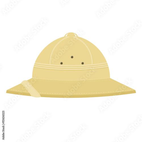 Fotografía Cork helmet. Tropical helmet on a white background. Item of equi