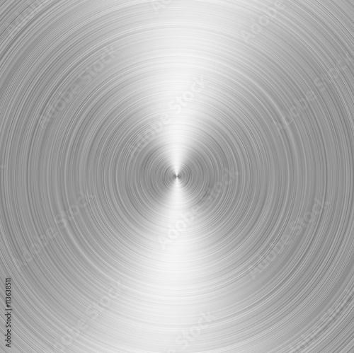 Fotografía  brushed metall: steel or aluminium circular texture background