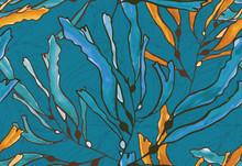 Kelp Seaweed Blue And Yellow W...