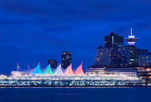 Canada Place Night Sails. Down...