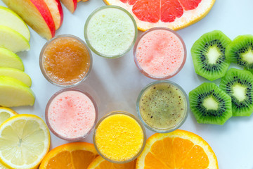 Fototapetauseful food vitamins fruits