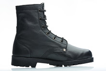 Side Black Leather Boot