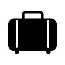 Suitcase Isolated Icon Design