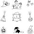 Doodle of Element Halloween character