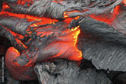 Photo sur Toile Volcan Eruption volcano Tolbachik