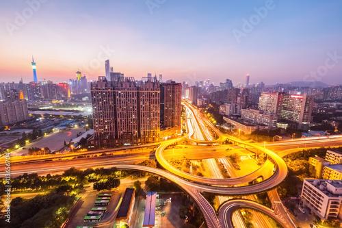 Obraz na płótnie city highway overpass