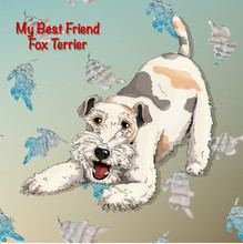 Fox Terrier Seamless Textures Sailor Style Sea Dog Puppy