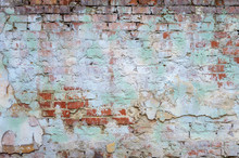 Background Old Brick Wall With...