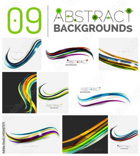 Fotomural Set of abstract backgrounds