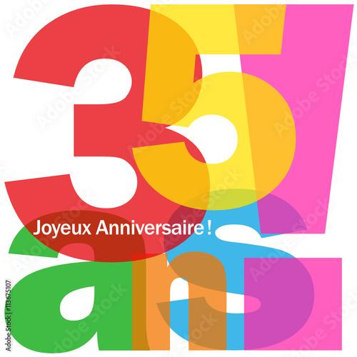 Joyeux Anniversaire 35 Ans Buy This Stock Vector And Explore
