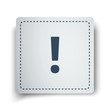 Black Exclamation Mark icon on white sticker