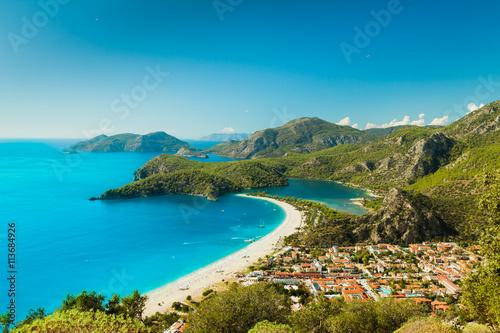 Fotografia  Oludeniz lagoon in sea landscape view of beach