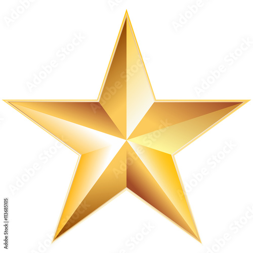Obraz Golden Star - fototapety do salonu