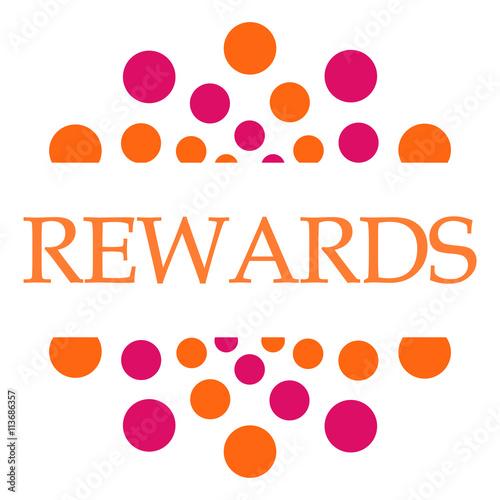 Fotografía  Rewards Pink Orange Dots Circular