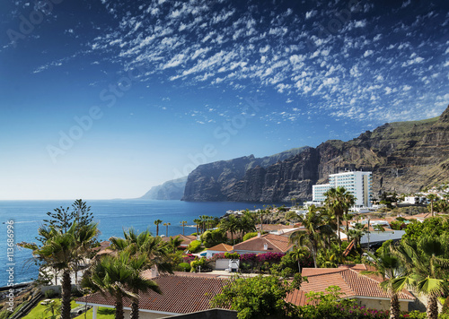 los gigantes cliffs landmark in south tenerife island spain