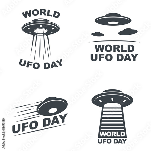 world ufo day Wallpaper Mural
