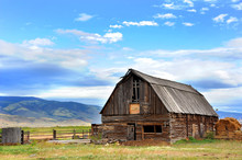 Barn Backed By Mountains