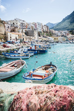 Enchanting Fisching Port In Small Town Of Castellammare Del Golfo On Sicily