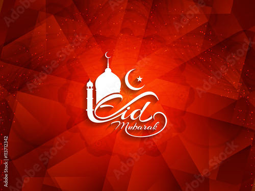 artistic red color eid mubarak islamic background design buy this stock vector and explore similar vectors at adobe stock adobe stock artistic red color eid mubarak islamic
