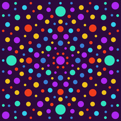 FototapetaAbstract background with bright circles isolated on stylish cover