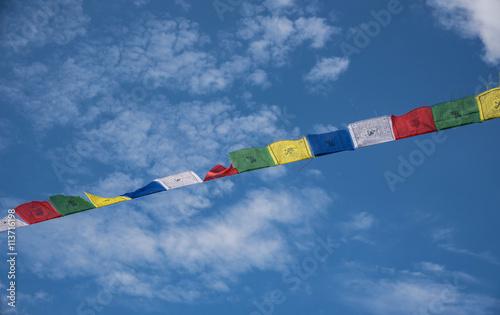 Fotografija  bandiere tibetane di preghiera