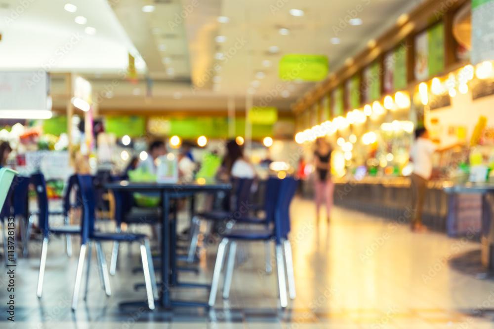 Fototapety, obrazy: Food Court Blurred
