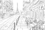 Ulica w Paryżu - szkic ilustracji koncepcji - 113737115