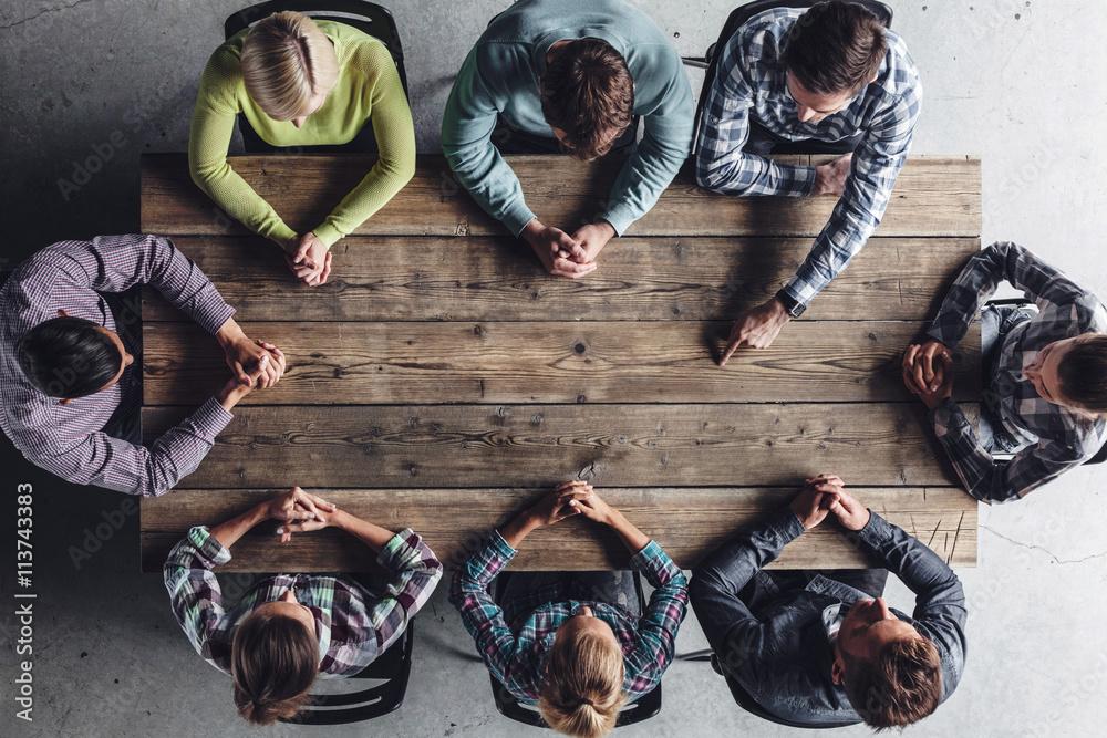 Fototapeta Teamwork meeting concept