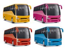 Modern Comfortable City Buses