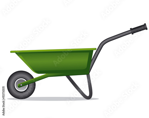 Cuadros en Lienzo  green wheelbarrow