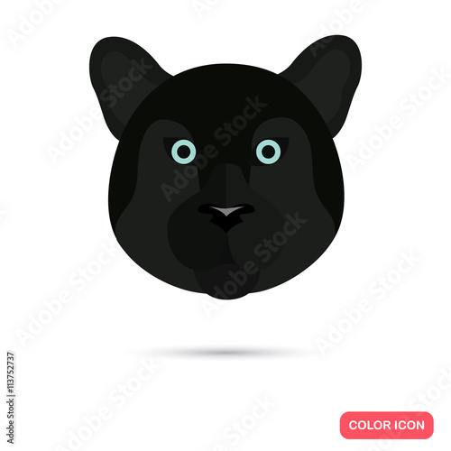 Printed kitchen splashbacks Cats Panther color flat icon