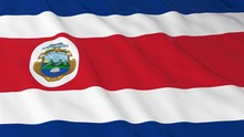 Costa Rican Flag HD Background - Flag Of Costa Rica 3D Illustration