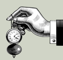 Hand With An Old Clock. Retro ...
