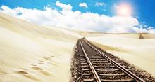 Schienen Durch Die Wüste