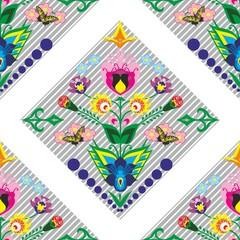 floral polish pattern