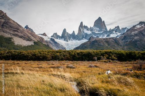 Poster Reflexion La vetta del monte Fitz Roy, in Patagonia