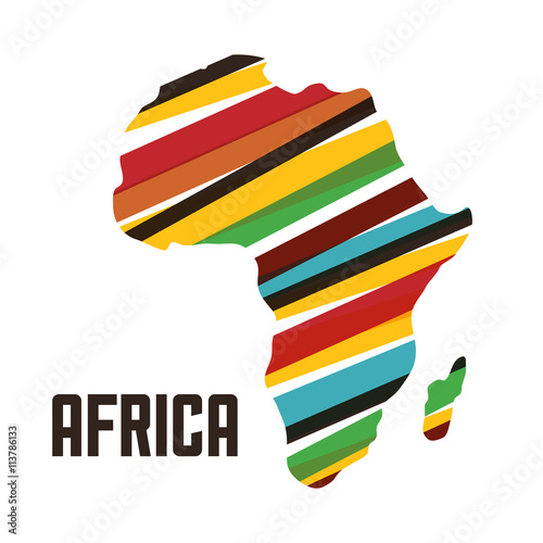Africa design. map shape icon, vector graphic Poster
