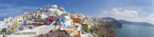 Poster Santorini SANTORINI, GREECE - OCTOBER 5, 2015: The panorama of Oia.