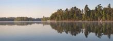 Panorama Of Northern Minnesota Lakeshore On A Calm Morning Durin