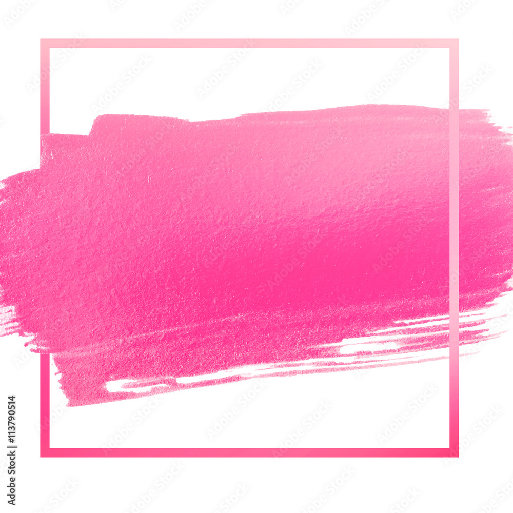 Fototapety, obrazy: hot pink acrylic stroke space for your text or quote