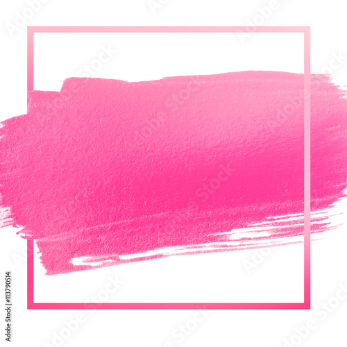 hot pink acrylic stroke space for your text or quote Wall mural