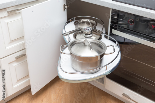 Solution For A Kitchen Corner Storage In A Cupboard A