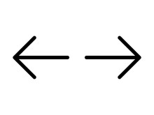 Left And Right, Previous And Next Or Back And Forth Arrows Line Art Icon For Apps And Websites