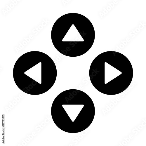 Up down left right or north east south west round triangle