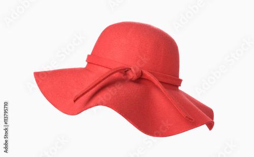 Obraz Red woman hat isolated - fototapety do salonu
